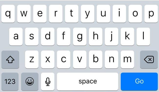 Cambios en el teclado virtual