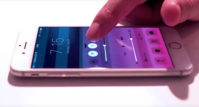 Concepto en vídeo de Force Touch en un iPhone 6s
