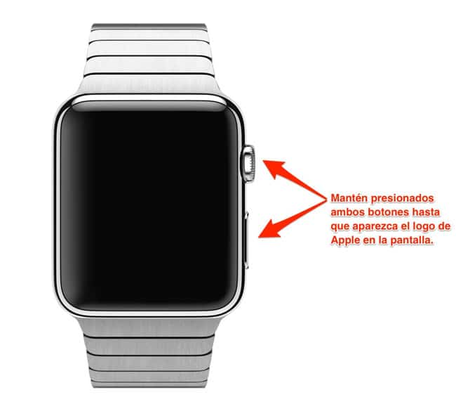 Forzar reinicio Apple Watch