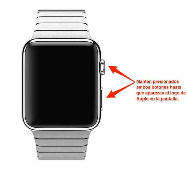Forzar reinicio Apple Watch