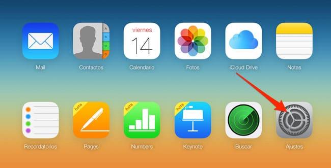 Ajuste de iCloud.com
