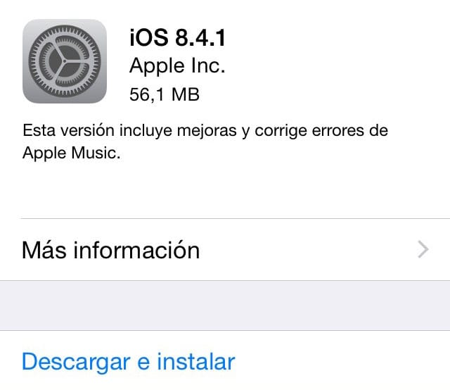 iOS 8.4.1 Disponible