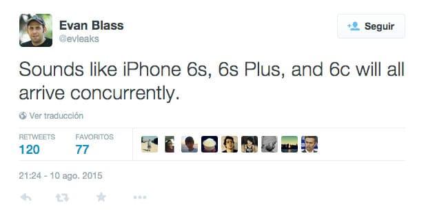 El iPhone 6c llegará en otoño según @Evleaks