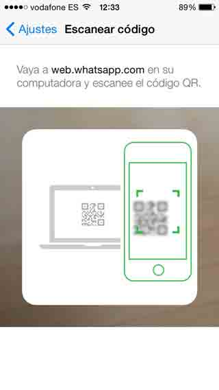 Escanear QR en WhatsApp Web