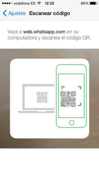 Escanear QR en WhatsApp Web
