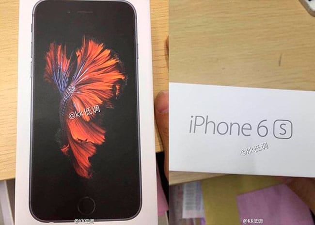 Supuesta caja de iPhone 6s Filtrada
