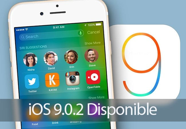 iOS 9.0.2 ya disponible