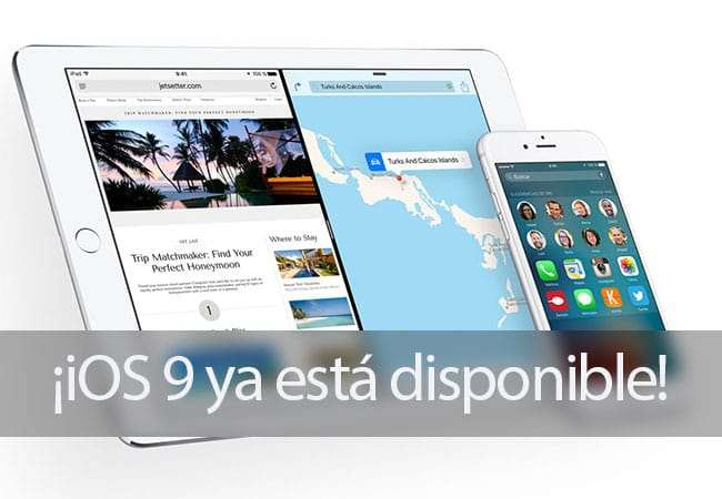iOS 9 ya disponible