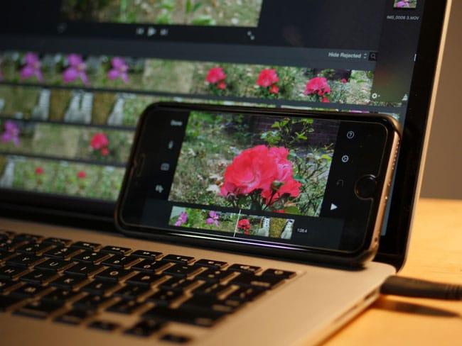 iPhone 6s vs MacBook Pro en exportación de vídeo 4K