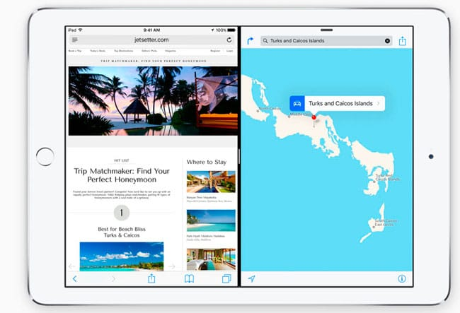 Multitarea Split View de iOS 9
