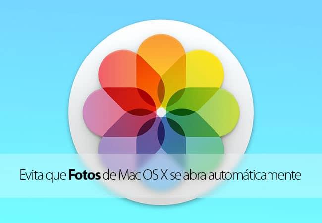 Evitar que fotos se abra automáticamente al conectar un iPhone