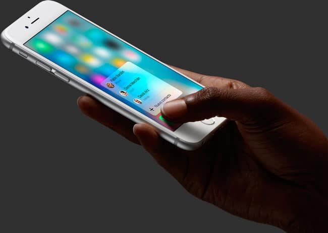 3D Touch iPhone 6s