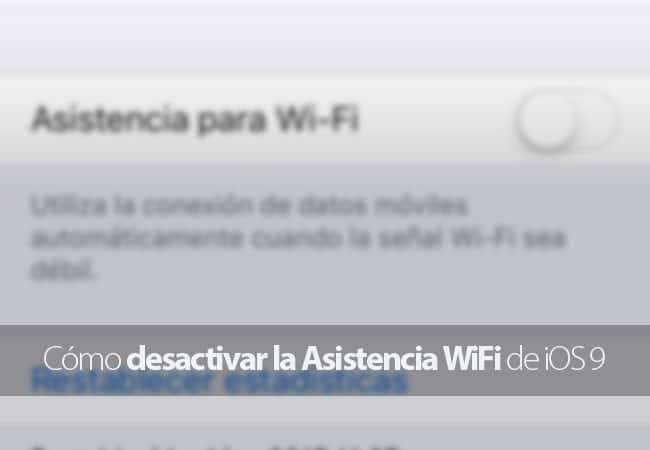 Desactivar la Asistencia WiFi