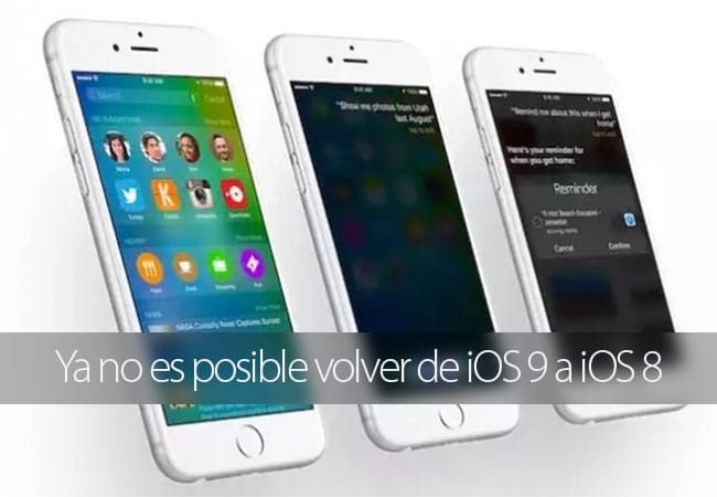 Apple deja de firma iOS 8 y iOS 9.0