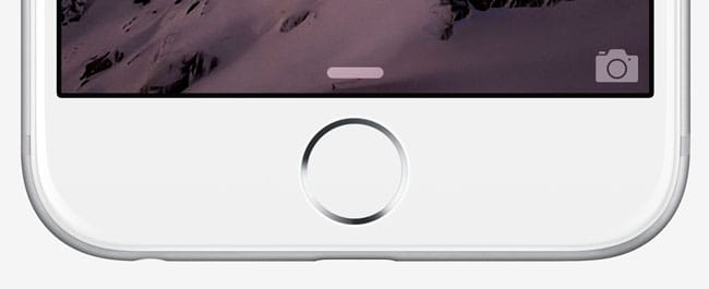 iPhone 6 botón home con Touch ID