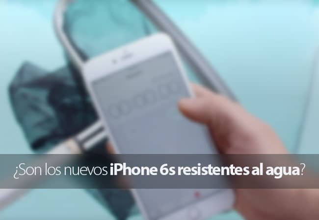 iPhone 6s resistente al agua