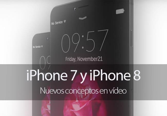 iPhone 7 y iPhone 8 en nuevos conceptos