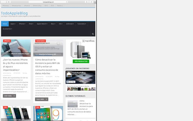 Modo Split View OS X