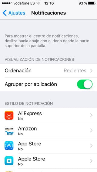 Apagar notificaciones