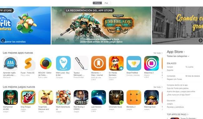 App Store Noviembre 2015