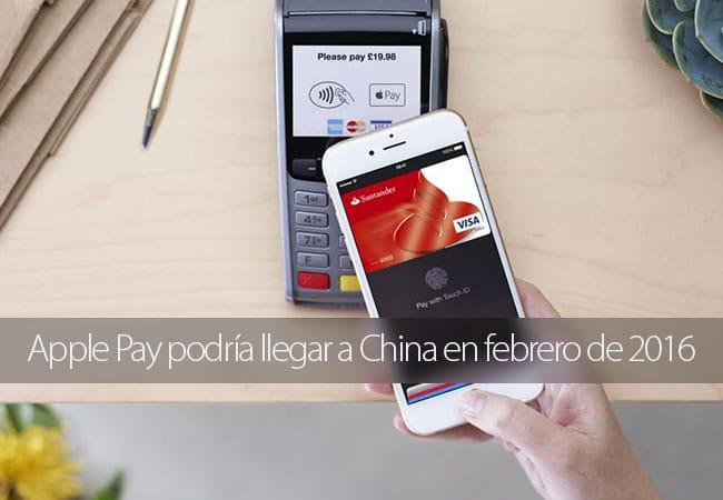 Apple Pay podría llegar a China en febrero