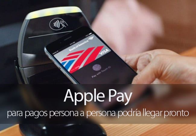 Apple Pay para pagos persona a persona