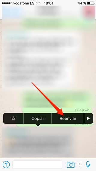 Reenviar en WhatsApp para iPhone