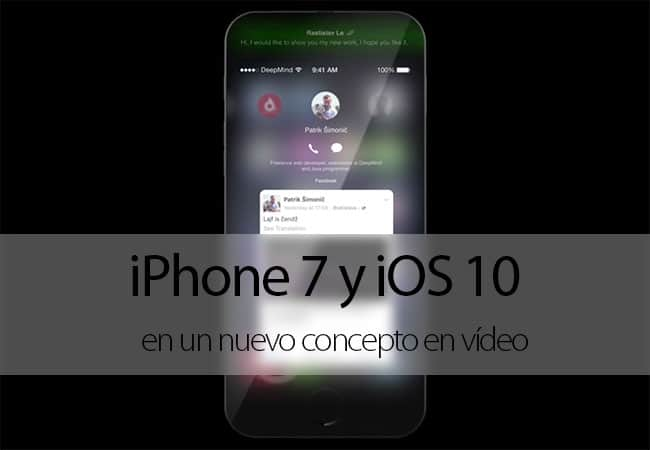 Concepto de IPhone 7 con iOS 10