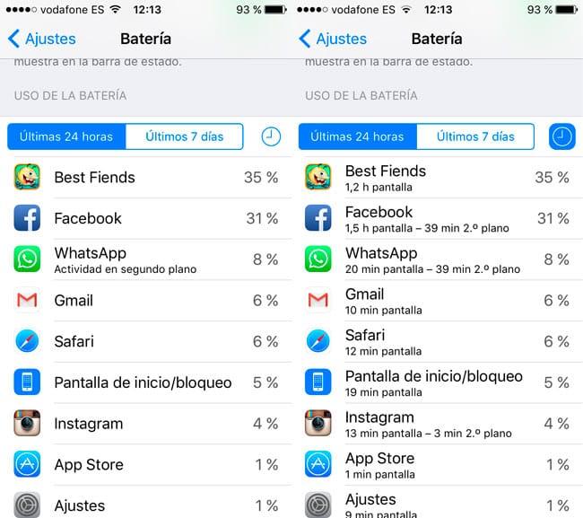 Controlar el consumo de batería de las apps de iOS 9