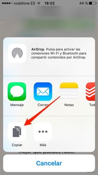 Copiar mensajes en masa en WhatsApp