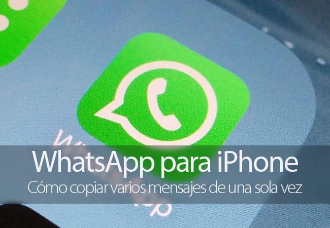 Copiar varios mensajes en WhatsApp para iPhone