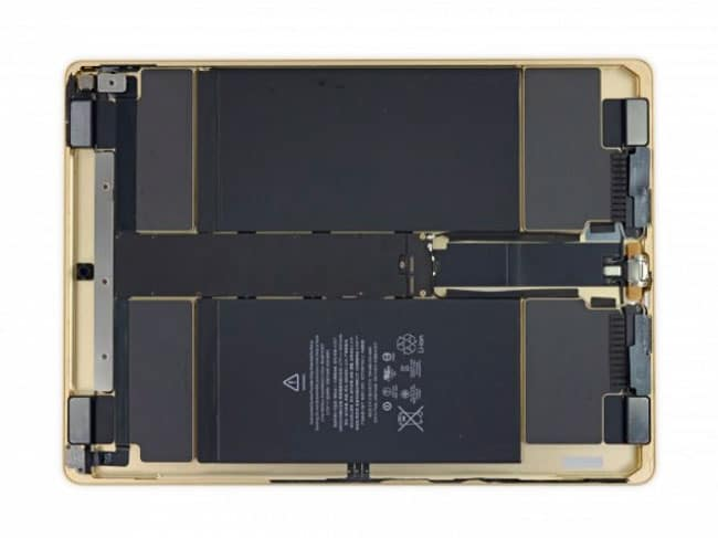 Interior del iPad Pro de Apple