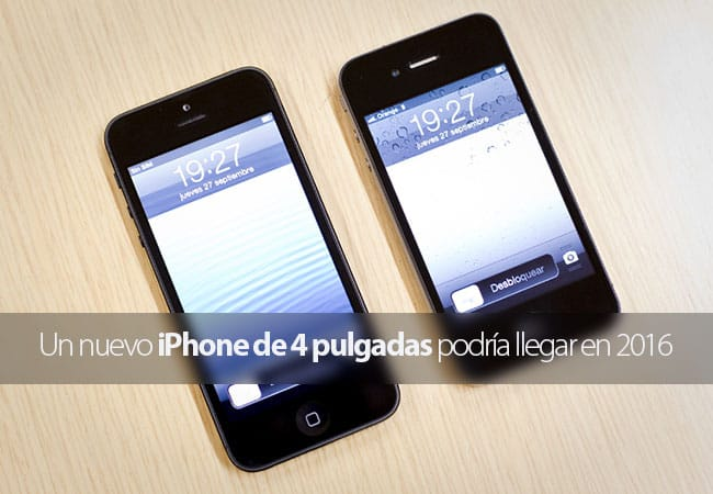 iPhone con pantalla de 4 pulgadas en 2016