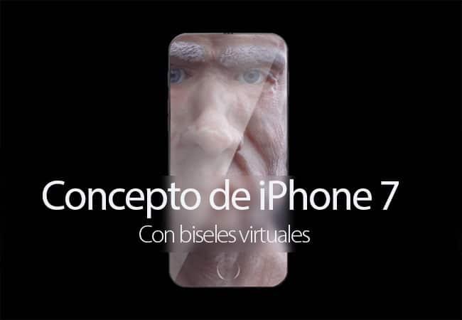 Concepto de iPhone 7 con biseles virtuales