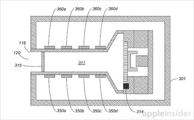 Patente expulsor de agua del iPhone