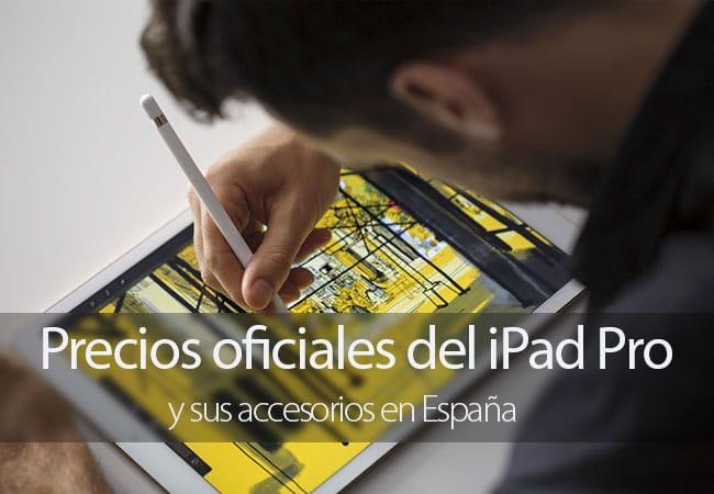 Precios oficiales del iPad Pro para España