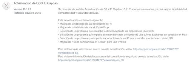 Actualización OS X El Capitan en la Mac App Store