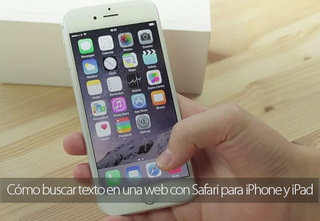Cómo buscar texto en una web con Safari para iPhone y iPad