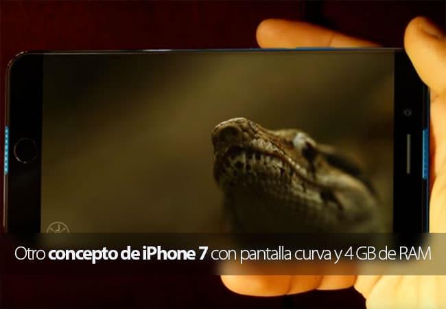 Concepto iPhone 7 EDGE con pantalla curva