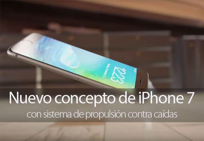 Concepto de iPhone 7 con protección anti caídas