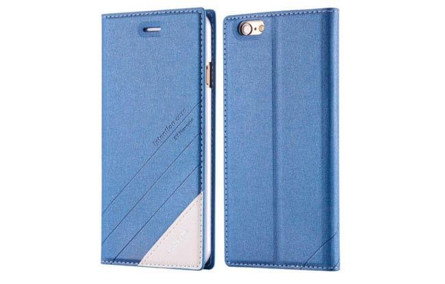 Funda billetera de cuero para iPhone 5