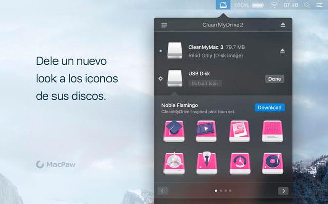 Iconos personalizados CleanMyDrive 2