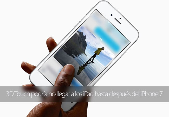 Integración 3D Touch en iPad