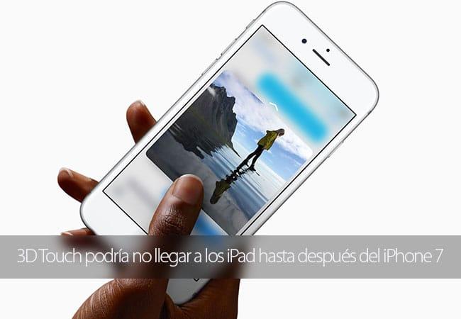 Integración 3D Touch en iPad