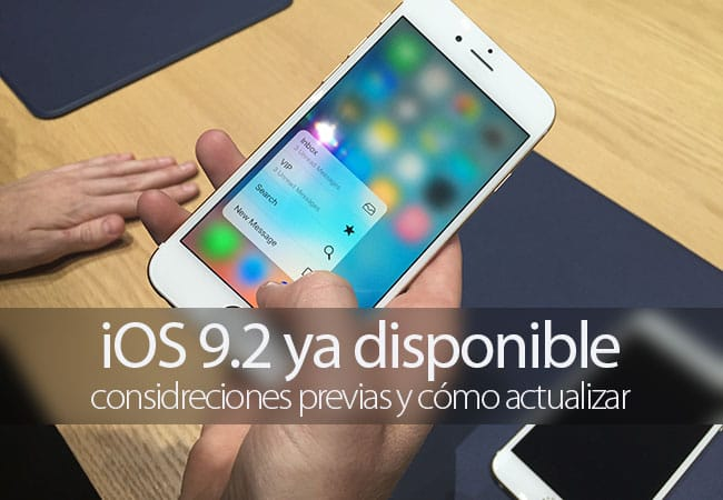iOS 9.2 ya disponible