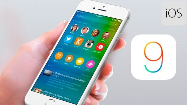iPhone con iOS 9