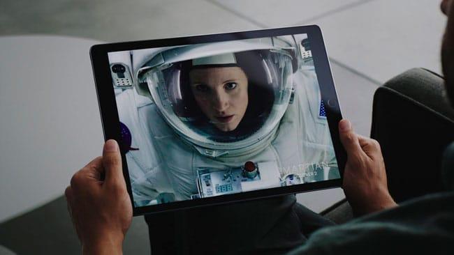 Películas en el iPad Pro