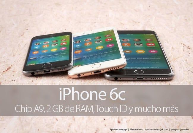 El iPhone 6c podría montar chip A9 y 2 GB de RAM