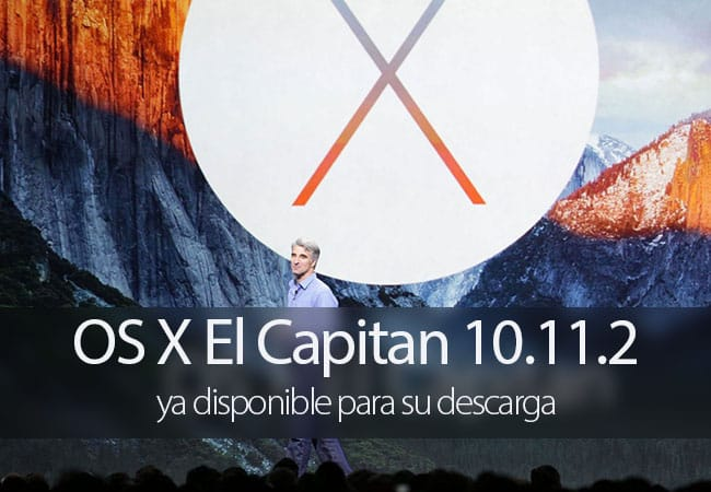 OS X El Capitan 10.11.2 disponible