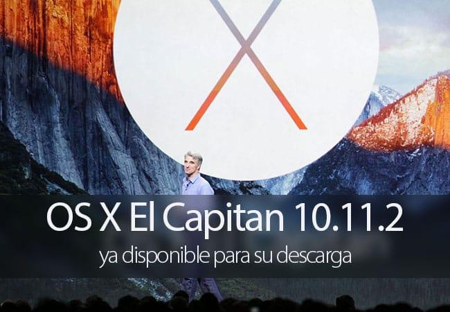 OS X El Capitan 10.11.2 disponible